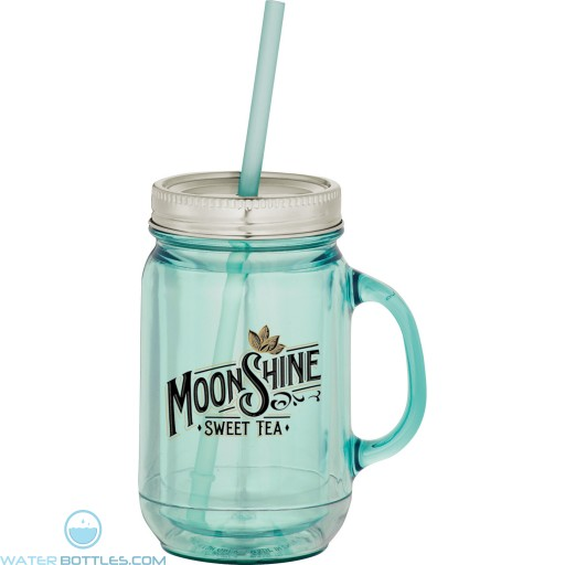 Custom Mason Jar Mugs - Vintage Double-Wall Mason Jar   20 oz