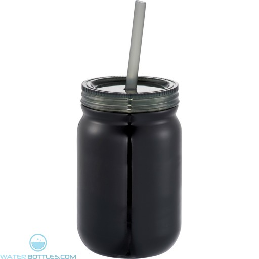 Stainless Mason Jar | 24 oz - Black