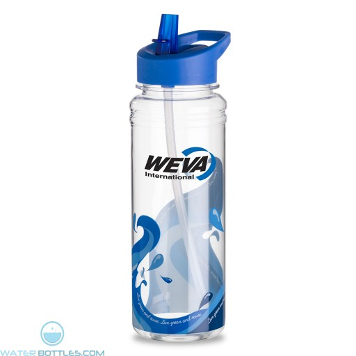 25 oz. Clear Wave Water Bottles  Blue