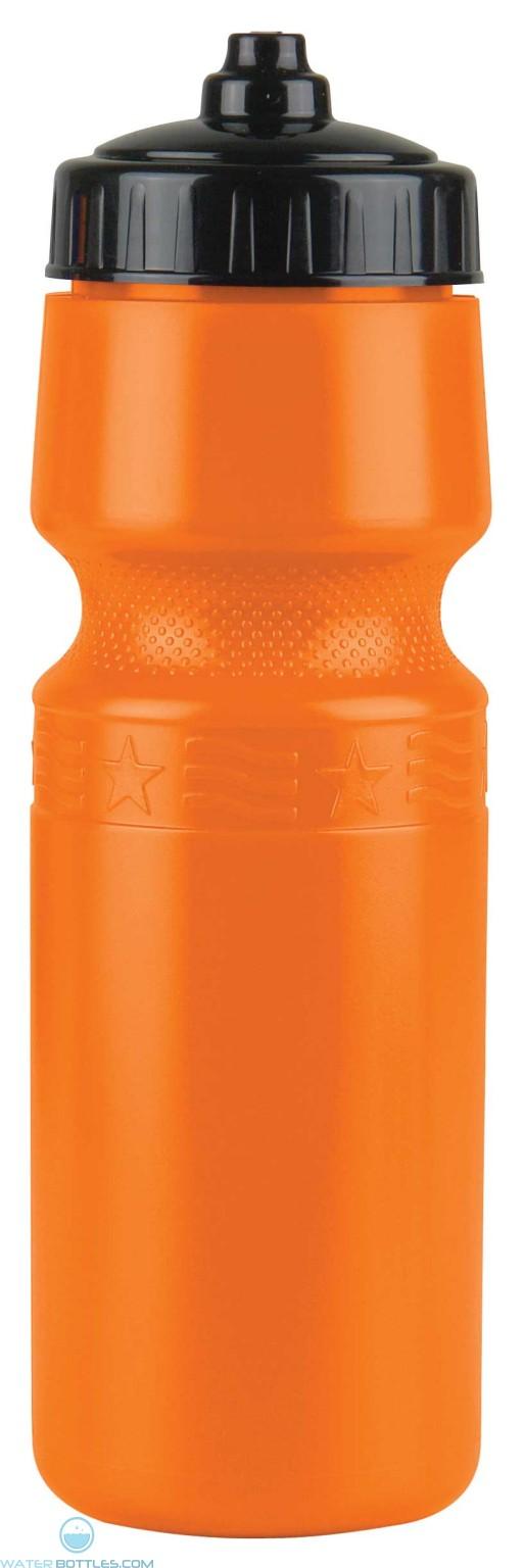 The Mighty Shot - 24. oz. Bike Bottles (Valve Lid)-Orange