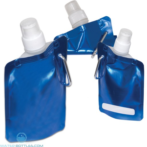 Square Flexi Water Pouch   6.7 oz - Metallic Blue