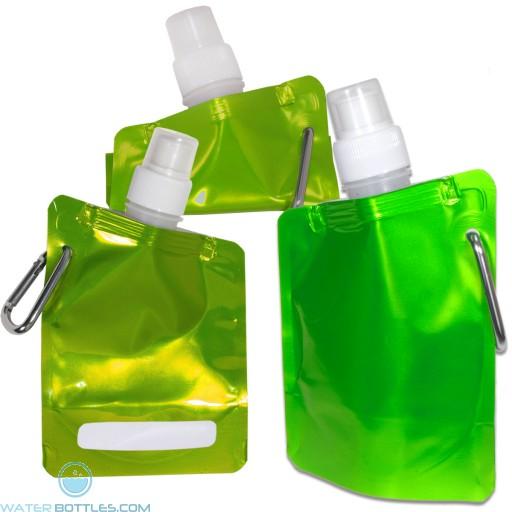 Square Flexi Water Pouch | 6.7 oz - Metallic Lime Green