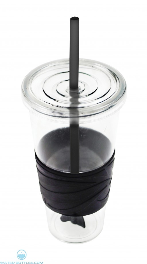 Revolution Tumblers   24 oz - Clear with Black Rubber Grip