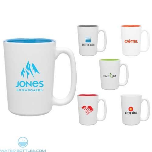Custom Coffee Mugs - Rocca Ceramic Mug - Matte White | 15 oz