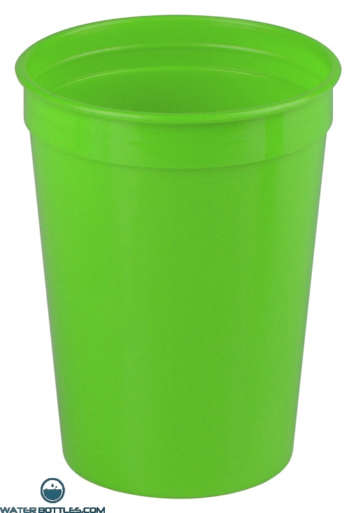 Cups-On-The-Go - 12 oz. Stadium Cup-Lime-Green