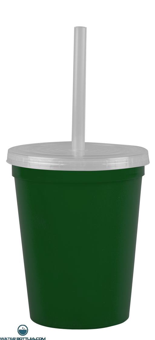 Cups-On-The-Go -16 oz. Recycled Stadium Cup-Eco-Dark-Green