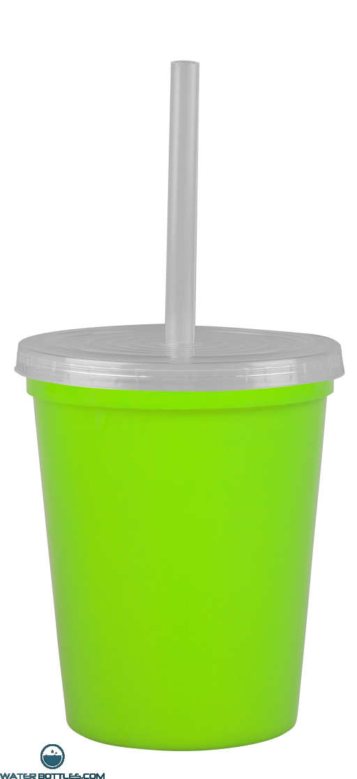 Cups-On-The-Go -16 oz. Stadium Cup-Lime-Green