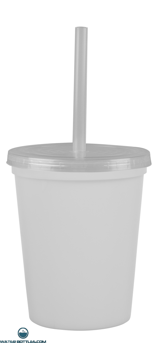Cups-On-The-Go -16 oz. Recycled Stadium Cup-White
