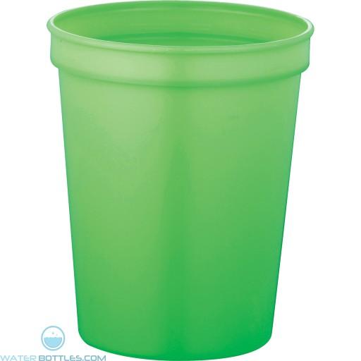 Rally Stadium Cup   16 oz - Neon Green