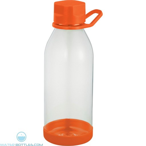 Piper Tritan Sports Bottles | 24 oz - Clear with Orange Lid