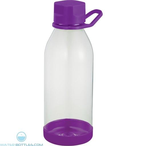 Piper Tritan Sports Bottles | 24 oz - Clear with Purple Lid
