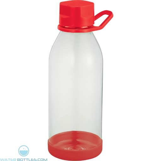 Piper Tritan Sports Bottles | 24 oz - Clear with Red Lid