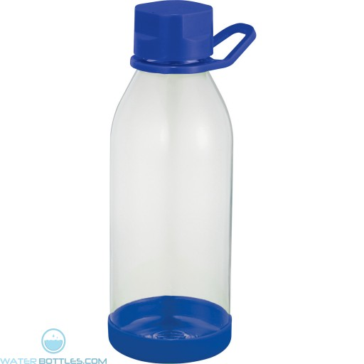 Piper Tritan Sports Bottles   24 oz - Clear with Royal Blue Lid