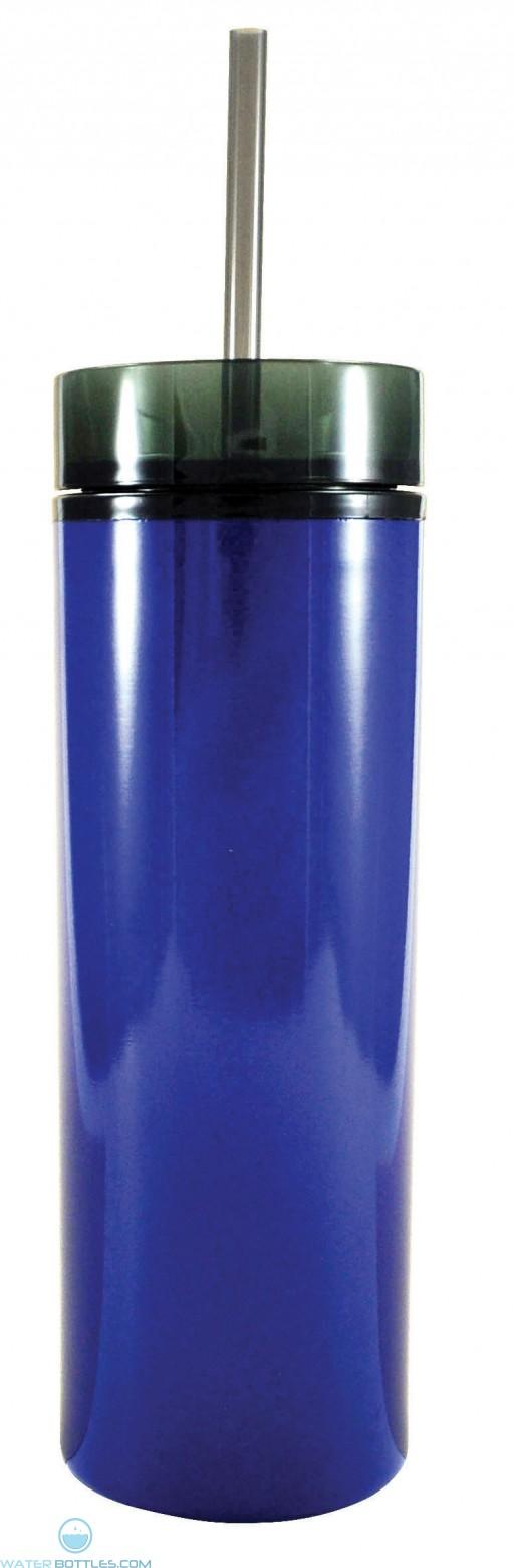 Stainless Slender Sip   16 oz - Blue