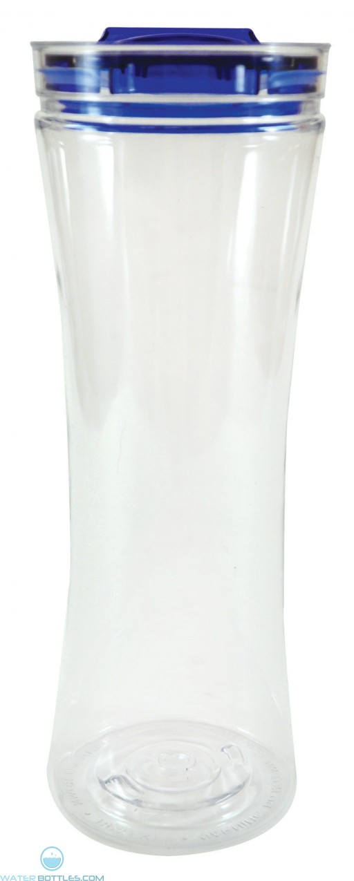 Swanky Sip Tumblers | 20 oz - Clear with Blue Lid