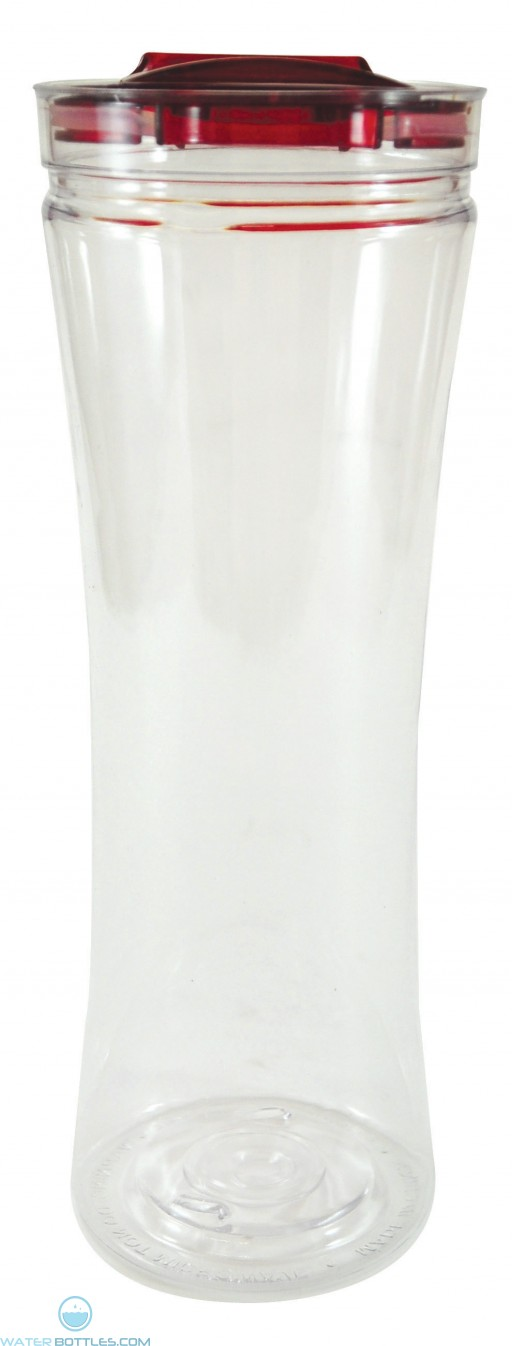 Swanky Sip Tumblers | 20 oz - Clear with Red Lid
