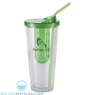 Flavorade Venti   20 oz - Clear with Green Infuser and Lid