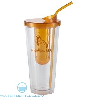 Flavorade Venti   20 oz - Clear with Orange Infuser and Lid