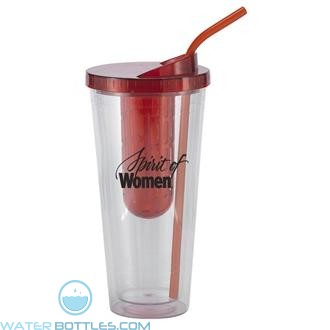 Flavorade Venti | 20 oz - Clear with Red Infuser and Lid
