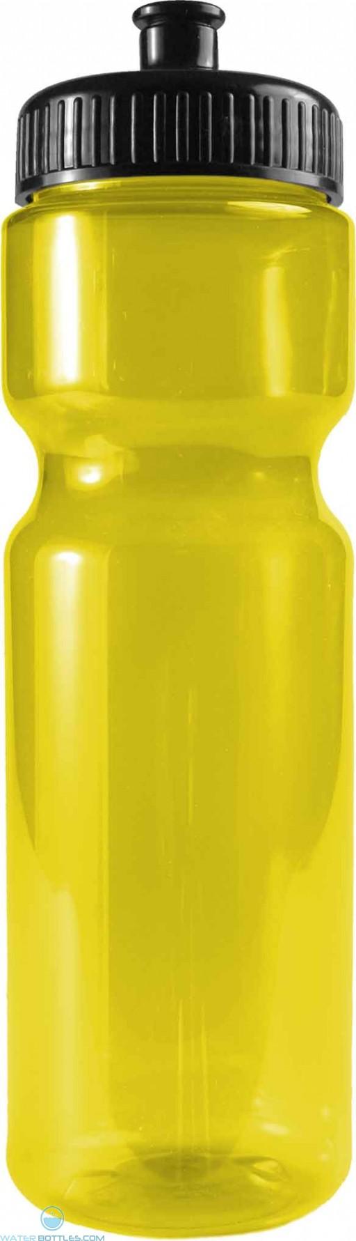 The Olympian - 28 oz. Transparent Color Bottles-Transparent--Yellow