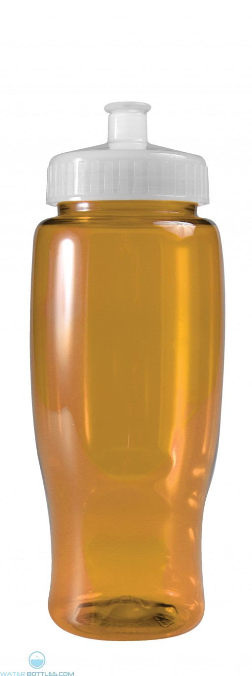 Poly-Pure - 27 oz. Transparent Bottles-Transparent--Yellow