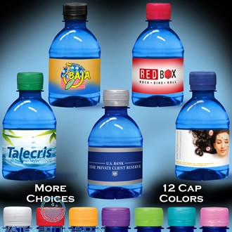 Custom Labeled Water   8 fl oz. - Blue