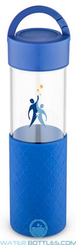 24 oz Mia Serenity Glass Water Bottles - Blue