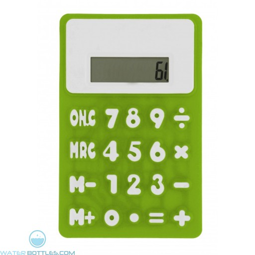 Promotional Rubbery Flexible Calculator - Green