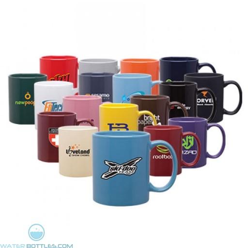 11 oz custom logo glossy c-handle mug