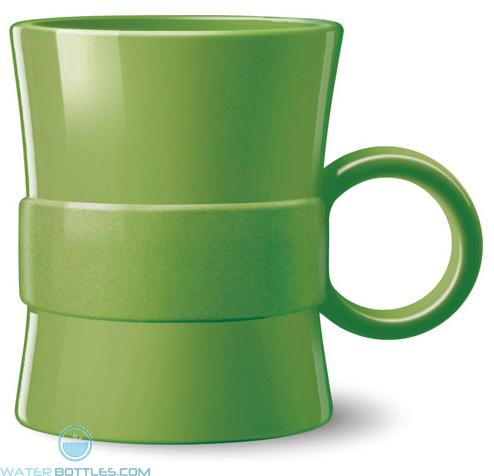 14 oz Loop BPA Free Plastic Mugs - Green