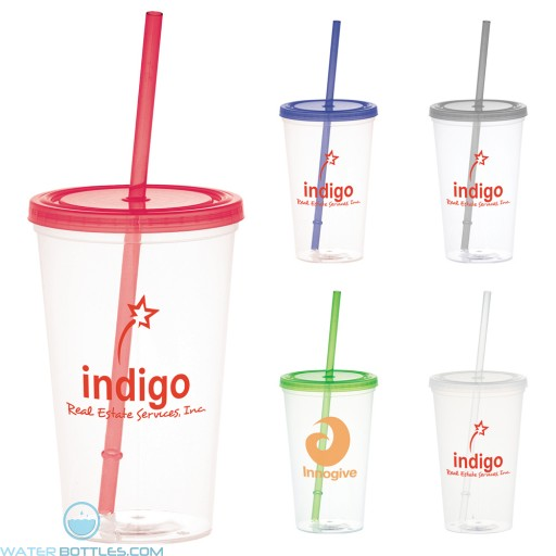 Wholesale Tumblers - Glacier Tumbler With Straw | 20 oz