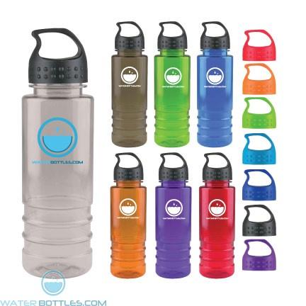 Personalized Water Bottles - Salute - 24 oz. Tritan Bottle-Crest Lid