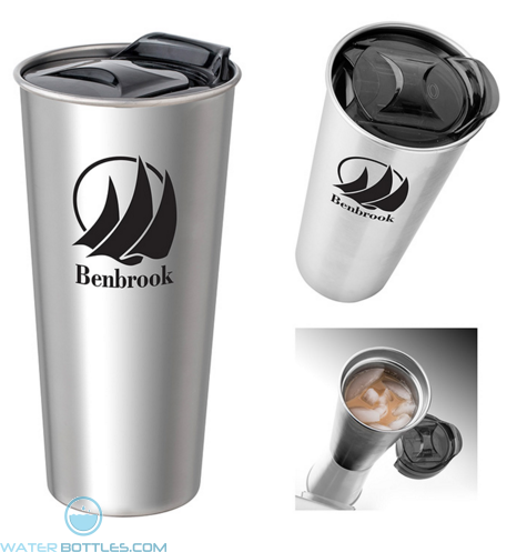Promotional Tumblers - 16 oz Basecamp Insulated Stainless Steel Tumbler
