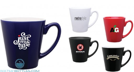 Mini Latte Ceramic Promo Mug | 12 oz