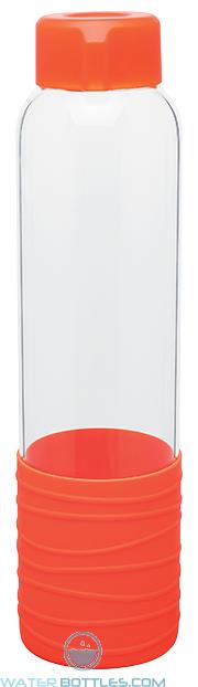 Orange 20 oz H2Go Oasis Glass Water Bottles