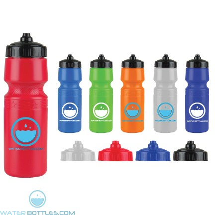 Personalized Water Bottles - The Mighty Shot - 24. oz. Bike Bottles (Valve Lid)