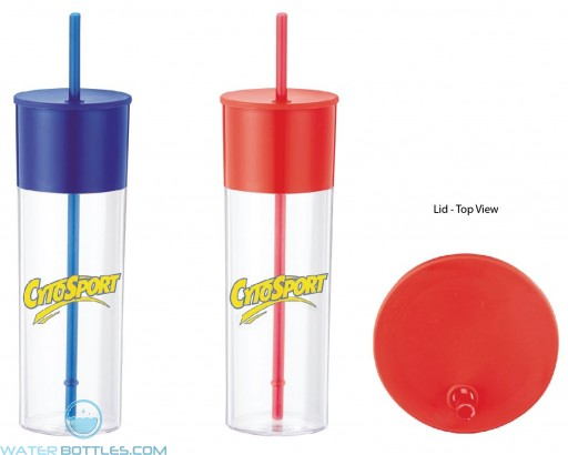 Color Band Tumbler With Straw | 22 oz