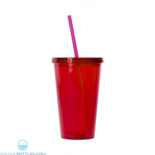 The Carmel Tumblers-Translucent Red