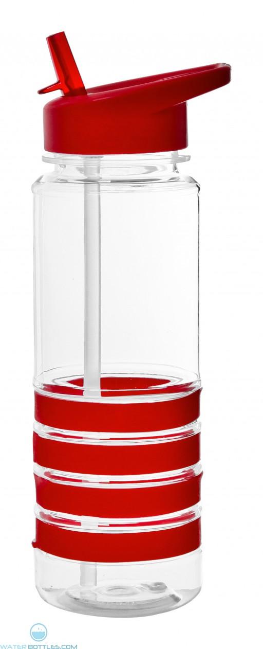 The San Clemente Gripper Water Bottles-Red