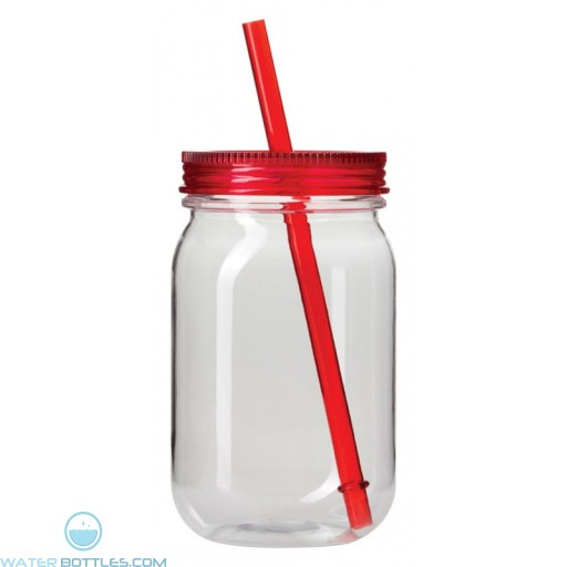 The Mason Jar Tumblers-Red