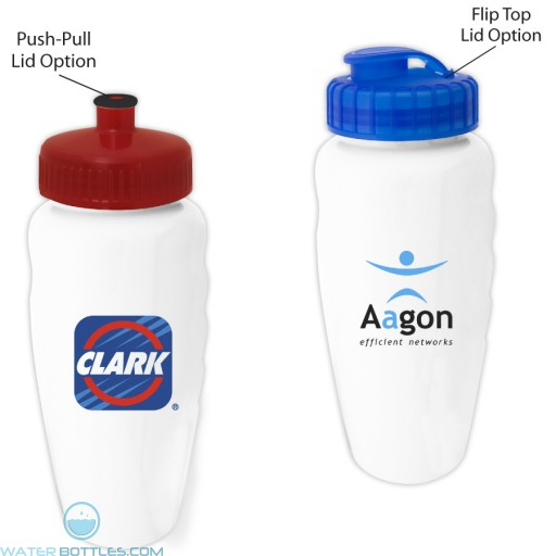 Custom Logo Water Bottles - The Glossy White Alverstone Water Bottles