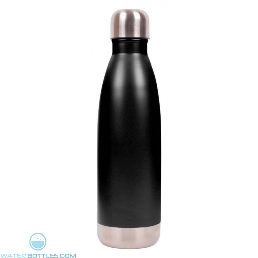 Matte Black 16 oz Vacuum Insulated Water Bottles