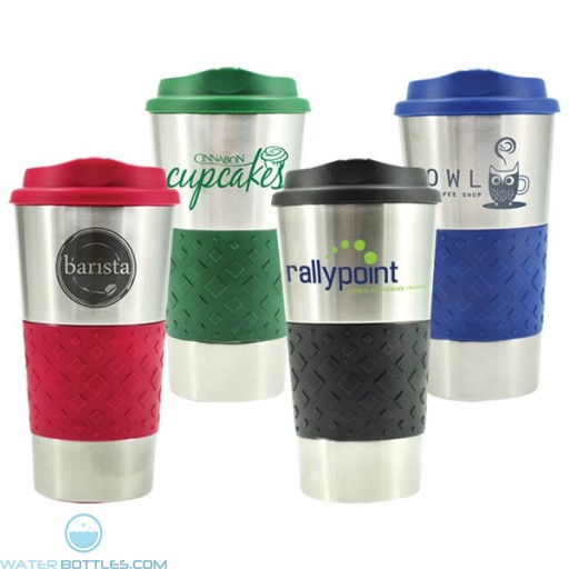 Custom Spirit Tumblers - Grip N Go Stainless Tumbler | 16 oz