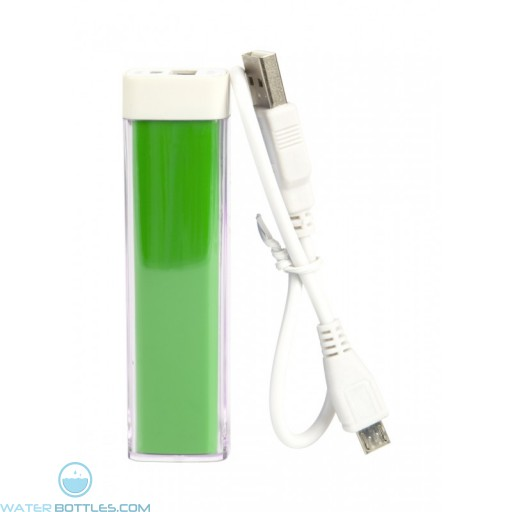 Custom Logo Power Bank Bar - Green