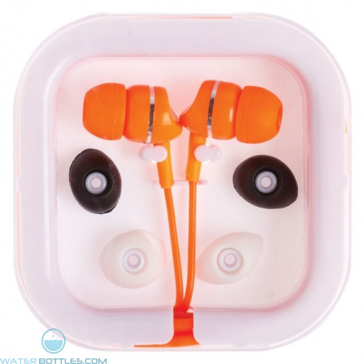 Printed Extended Ear Phones - Orange