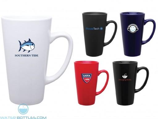 Tall Latte Ceramic Promotional Mug | 16 oz