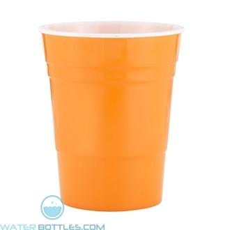 Reusable Plastic Party Cup | 16 oz - Orange