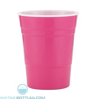 Reusable Plastic Party Cup | 16 oz - Pink