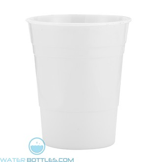 Reusable Plastic Party Cup | 16 oz - White
