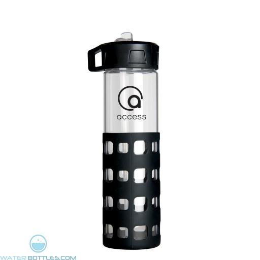 Sip-N-Go Glass Water Bottles | 20 oz - Black